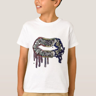 Diseño de los labios del arco iris camiseta