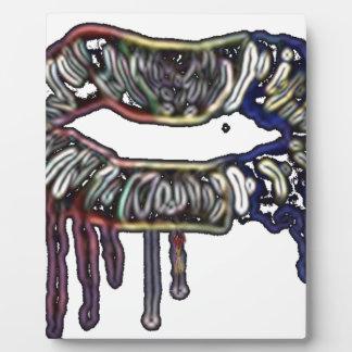 Diseño de los labios del arco iris placa expositora