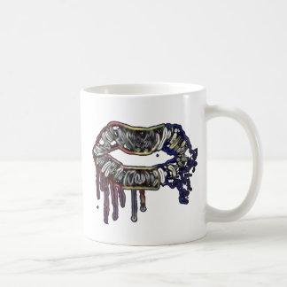 Diseño de los labios del arco iris taza de café