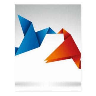 Diseño de los pájaros de Origami Postal