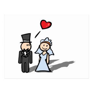 """""""Diseño de los pares del día de boda"""" Postal"""