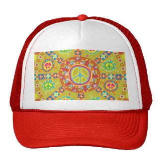 Diseño de los símbolos de paz gorro de camionero