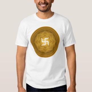 Diseño de Lotus de la cruz gamada Camisetas