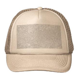 Diseño de lujo de plata gorras