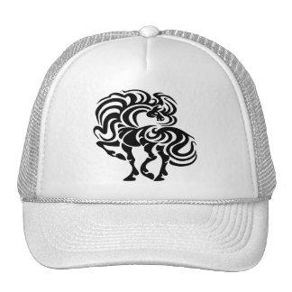 Diseño de lujo del caballo gorros