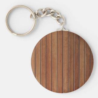 Diseño de madera de la pared, textura llavero personalizado