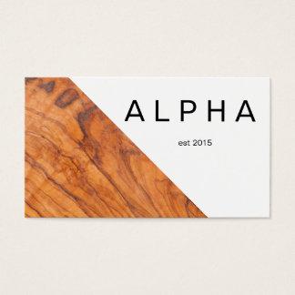 Diseño de madera geométrico moderno del fondo del tarjeta de negocios