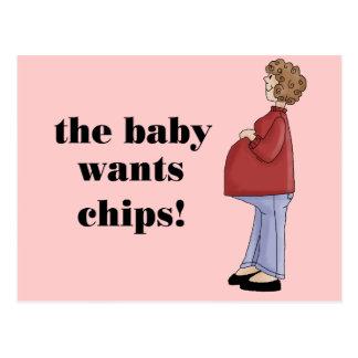Diseño de maternidad divertido postales