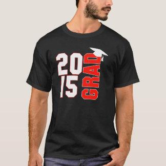 Diseño de moda 2015 del casquillo de la graduación camiseta