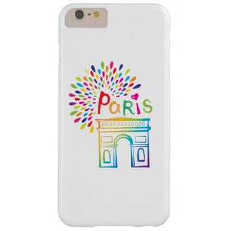 Diseño de neón de París Francia el | Arco del Funda Barely There iPhone 6 Plus