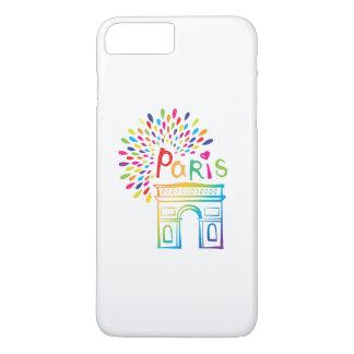 Diseño de neón de París Francia el | Arco del Funda Para iPhone 8 Plus/7 Plus