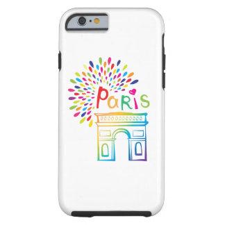 Diseño de neón de París Francia el | Arco del Funda Resistente iPhone 6