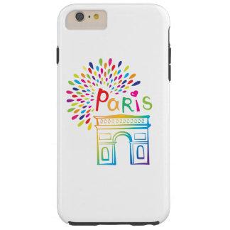 Diseño de neón de París Francia el | Arco del Funda Resistente iPhone 6 Plus