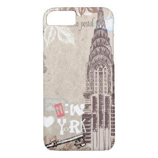 Diseño de Nueva York del vintage Funda iPhone 7