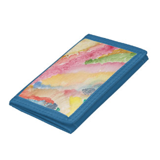 Diseño de nylon triple azul de la cartera