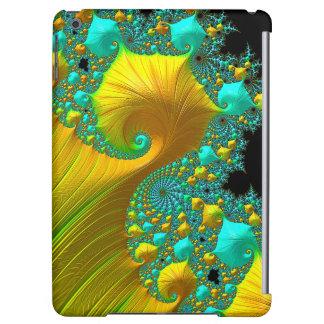 Diseño de oro del caso del iPad del cono