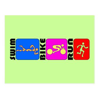 Diseño de parachoques del TRI del Triathlon de la Postal