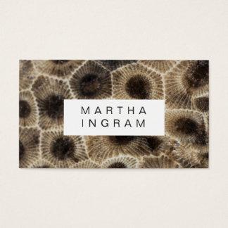 Diseño de piedra abstracto de piedra moderno de tarjeta de visita