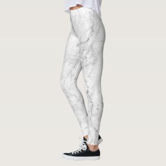 Diseño de piedra de mármol blanco y gris leggings