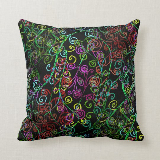 Diseño de Swirly Whirly en la almohada de tiro