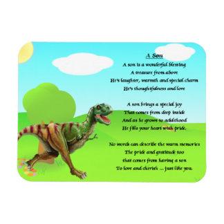 Diseño de T Rex - imán del poema del hijo