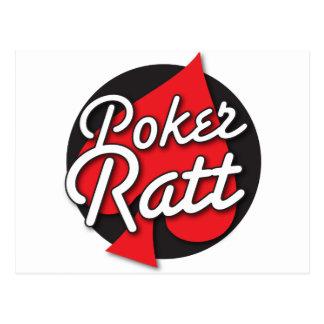 Diseño de tarjeta del Rockabilly de Ratt del póker Postal