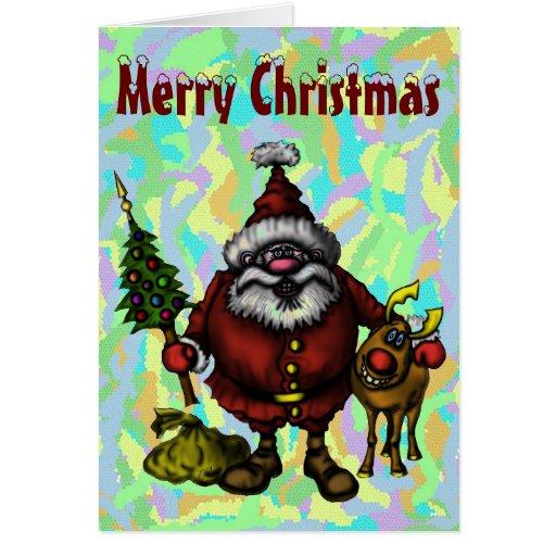 Diseño de tarjeta divertido de las Felices Navidad