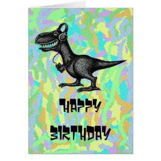 Diseño de tarjeta divertido del feliz cumpleaños