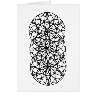 Diseño de tarjeta geométrico que colorea 3 5 x 7 y