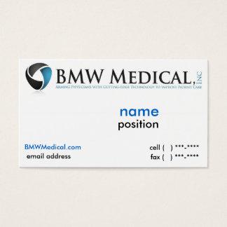 Diseño de tarjeta médico de BMW