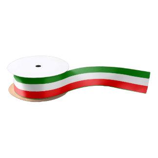 Diseño de Tricolore de la bandera de Italia del Lazo De Raso
