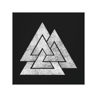 Diseño de Valknut Viking Lienzo