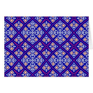 Diseño decorativo artístico púrpura felicitaciones