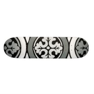 Diseño decorativo de la teja del rosetón del tablas de skate