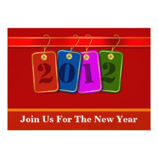 Diseño decorativo de las etiquetas del Año Nuevo 2 Anuncio Personalizado