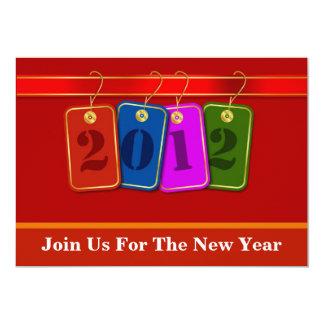 Diseño decorativo de las etiquetas del Año Nuevo Anuncio Personalizado