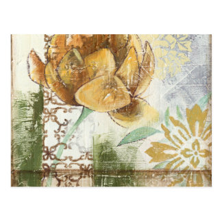 Diseño decorativo del fresco con la flor de globo postal