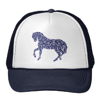 Diseño decorativo del modelo antiguo del caballo d gorras de camionero