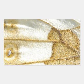 Diseño del ala de la mariposa pegatina rectangular