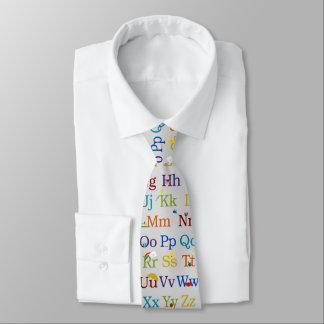 Diseño del alfabeto corbatas personalizadas