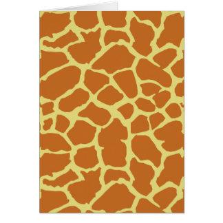 Diseño del amarillo anaranjado del estampado de tarjeta de felicitación