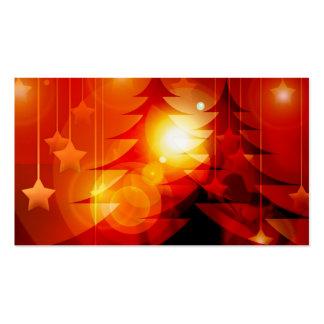 Diseño del árbol de navidad del día de fiesta tarjetas de visita