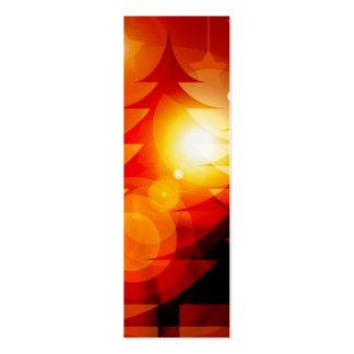 Diseño del árbol de navidad del día de fiesta tarjetas de visita mini