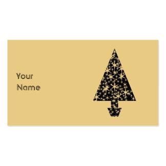 Diseño del árbol de navidad del negro y del color tarjetas de negocios