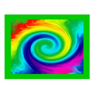 Diseño del arte abstracto del remolino del arco postal