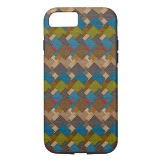 Diseño del arte del color de las tejas del estuco funda iPhone 7