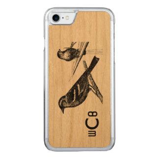 Diseño del arte del vintage: Dos modelo de los Funda Para iPhone 7 De Carved
