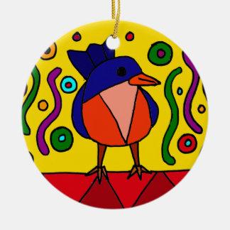 Diseño del arte popular del Bluebird de la Adorno Redondo De Cerámica