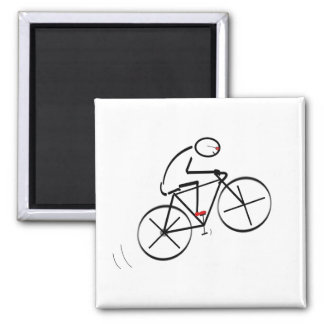 Diseño del Bicyclist de la diversión Imanes