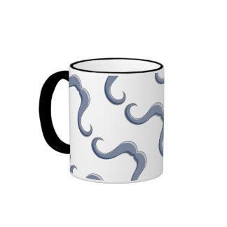 Diseño del bigote del manillar del dibujo animado taza a dos colores